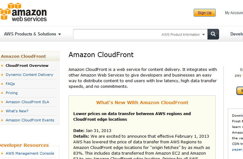 amazon cloud front.